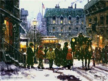"image ""Fresh snow in the City"" by g. harvey"