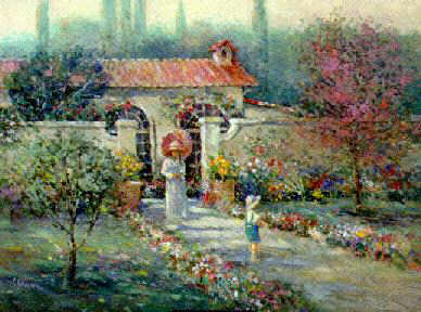 "L. Gordon's Limited edition print "" Garden Wall """