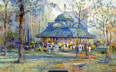 "L. Gordon 's print "" Pavilion of Flowers """